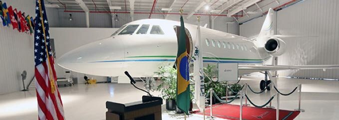 Falcon 2000S lands in Brazil